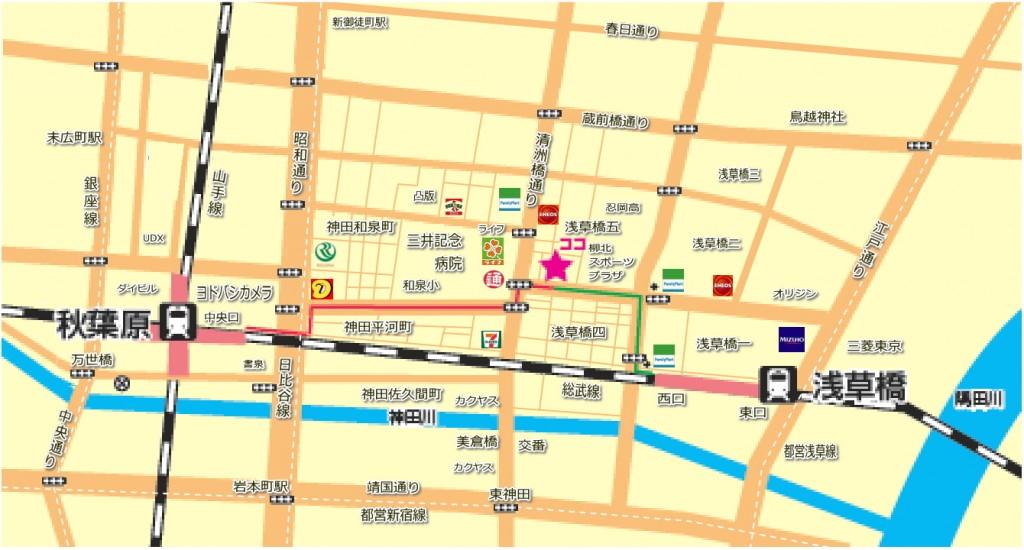 スタジオスクエアの地図